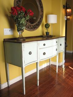 Some day I will work up the courage to paint mine white. Love the wood top