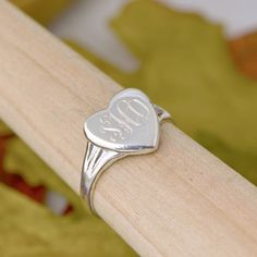 Sterling Silver Heart Ring  Heart by TheJewelryGirlsPlace