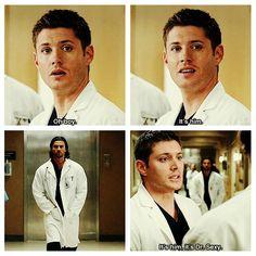 Fangirl Dean #supernatural 5x08 Changing Channels #Supernatural #SPNS5