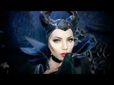 Disney's Maleficent Makeup Tutorial #Disney #Makeup #Maleficent #video
