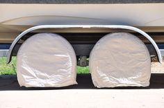 """TCP Global Set of 4 Canvas Wheel Tire Covers for RV Auto Fits 24.5"""" to 27.5"""" NEW #TCPGlobal"""