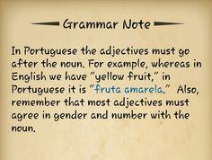 Grammar: portuguese