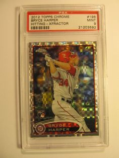 Bryce Harper ($300) 2012 Topps Chrome XFRACTOR ROOKIE