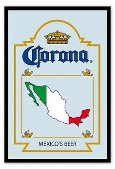 "Corona - Bar Mirror (Mexico's Beer) (Size: 9"" x 12"")"