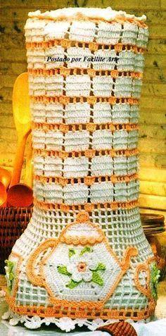 Filet Crochet, Crochet Motif, Crochet Flowers, Knit Crochet, Crotchet Patterns, Crochet Stitches Patterns, Stitch Patterns, Yarn Crafts, Diy And Crafts