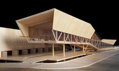 Spadoni and Associates: Hyundai Pavilion, Rio de Janeiro - Maquette Architecture, Wood Architecture, Architecture Drawings, Conceptual Architecture, Museum Architecture, Architecture Diagrams, Architecture Graphics, Architecture Portfolio, Beautiful Architecture