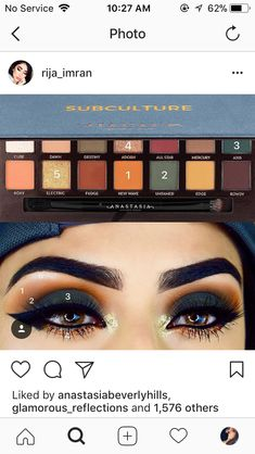 41 best ideas for eye shadow palette anastasia subculture Makeup Goals, Love Makeup, Makeup Inspo, Makeup Inspiration, Makeup Tips, Makeup Ideas, Makeup Tutorials, Makeup Trends, Anastasia Subculture