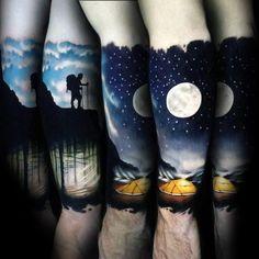 Mountain Man & Super Moon Tattoo von bei Boss Tattoos in Calgary Albert . Unique Tattoos, Beautiful Tattoos, New Tattoos, Body Art Tattoos, Tribal Tattoos, Tattoos For Guys, Celtic Tattoos, Boss Tattoo, Arm Tattoo