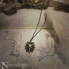 Ornate Fish Vertebrae Necklace Bone Jewelry Oddity by Necrology