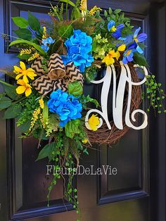 A personal favorite from my Etsy shop https://www.etsy.com/listing/234130803/spring-door-wreath-summer-door-wreath