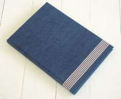 cover book with recycled jeans