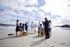 A small wedding on Chesterman Beach