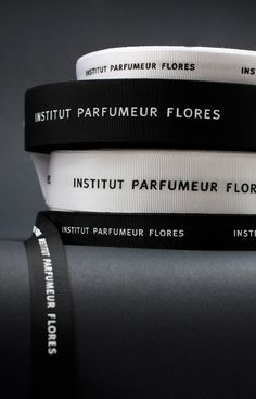 Identity and branding design for the Zagreb perfumery, Institut Parfumeur Flores by Bunch Design. Clothing Packaging, Clothing Labels, Jewelry Packaging, Tag Design, Label Design, Cover Design, Brand Identity Design, Branding Design, Identity Branding