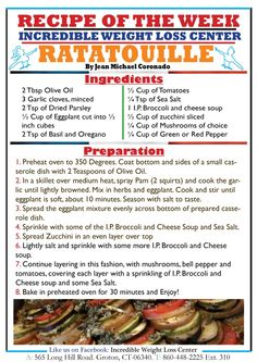 Ideal Protein Ratatouille