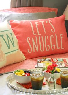 Snuggle up with breakfast in bed this weekend.
