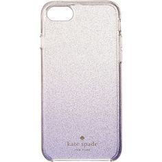 Kate Spade New York Clear Glitter Ombre Phone Case for iPhone 7... (€25) ❤ liked on Polyvore featuring accessories, tech accessories, blue, kate spade, iphone smartphone and blue smartphone