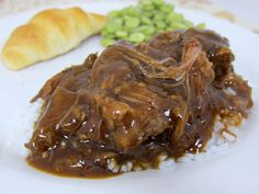 Three Envelope Pot Roast {Slow Cooker} | I will probably replace the Italian dressing packet with a hidden valley ranch dressing packet.