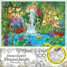 If you are a fan of adult coloring books, you will love this jigsaw puzzle based on the intricate designs of Johanna Basford. Adult Coloring, Coloring Books, Purple Crayon, Johanna Basford Coloring Book, Black And White Posters, To Color, Amazing Nature, 500 Piece Jigsaw Puzzles, Poster Prints
