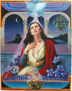 Mari Magdalena is the Lady of the 'Tower'. The temple towers were the sites of the Cananites' Stellar observatories. The Magdalena priest. Magdalena in Ecstasy Star Goddess, Triple Goddess, Divine Goddess, Mary Magdalene And Jesus, Gaia, Marie Madeleine, Jesus Stories, Tarot, Indigo Children