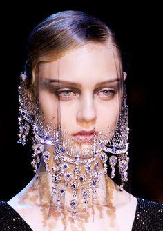 Arabian Nights Glamorous Veil  Armani Prive Fall Winter 2012 #Fashion #Trends