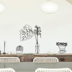 Vinilo Plantas Mediterráneo 3 by Aina Bestard ::: Chispum wall art stickers