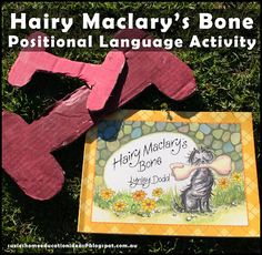 Suzie's Home Education Ideas: Hairy Maclary's Bone: Positional Language Activity Map Activities, Kindergarten Math Activities, Language Activities, Preschool Activities, Literacy, Positional Language, Receptive Language, Speech And Language, Language Arts