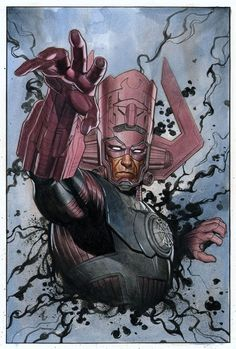 Galactus been hanging out with the koolaid man