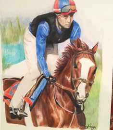 """""""Mi piace"""": 19, commenti: 1 - Beany Panya (@beany92) su Instagram: """"Latest commission I've drawn up :) #drawing #prismacolor #equineart #racehorse #chestnut #art…"""""""
