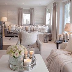 Credit: - Architecture and Home Decor - Bedroom - Bathroom - Kitchen And Living Room Interior Design Decorating Ideas - Table Decor Living Room, Glam Living Room, Elegant Living Room, Cozy Living Rooms, Home Decor Bedroom, Home And Living, Interior Decorating, Interior Design, Decorating Games