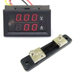 Riorand 0-100V/50A Digital Dc Panel Volt Amps Tester Meter Va 2In1 Red Led Display+Shunt, 2015 Amazon Top Rated Current Testers #AutomotivePartsandAccessories