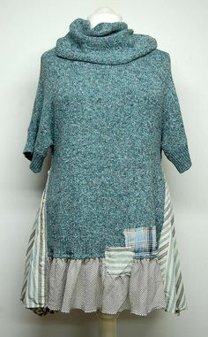 Long Tunic Cowl Neck Sweater Long Sweater Bohemian Tunic