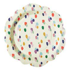 Flower Shaped Paper Plates, Dapper Dot - 8 plates for $6