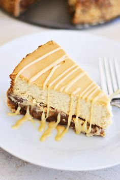 Pecan Pie Cheesecake - rich, creamy, and sinfully decadent cheesecake loaded with pecan and syrup. Absolutely amazing cheesecake that everyone wants more | rasamalaysia.com | #holidays #baking