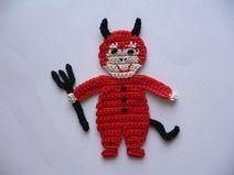 Devil's crochet applique ~ on de.dawanda.com