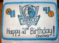 Dallas Mavericks Birthday Cake