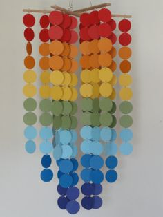 Rainbow circle mobile / chandelier by WhimsyCreationsEF, $45.00