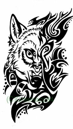 Tribal Wolf Tattoos Designs And Ideas Wolf Face Tattoo, Tribal Wolf Tattoo, Wolf Tattoos Men, Tribal Tattoos, Maori Tattoos, Viking Tattoos, Wolf Tattoo Design, Tribal Tattoo Designs, Akita