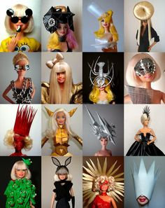 Gaga's Barbies  It is slightly embarrassing but I'm a fan:)