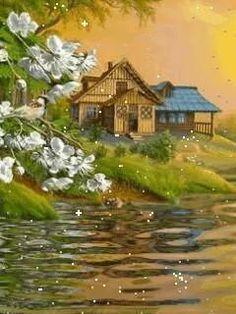 Pretty Most Beautiful Wallpaper, Beautiful Gif, Beautiful Images Of Nature, Animation, Gif Bonito, Animiertes Gif, Gif Photo, Great Backgrounds, Water Reflections