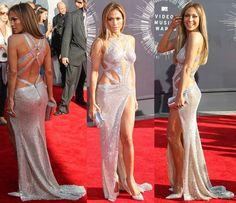 sooo sexy!... Jennifer Lopez in Silver Charbel Zoe Gown and Jimmy Choo Tartini Pumps