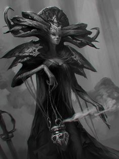 A by LeraStyajkina female demon devil god witch sorceress sorcerer wizard…