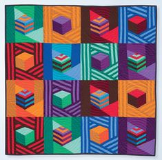 "tumbling blocks quilt pattern | Jazzed-Up Tumbling Blocks"" • Pippa Eccles Armbrester"
