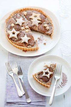 pear and hazelnut tart Food - Desserts & Bakery items Sweet Pie, Sweet Tarts, Gluten Free Christmas Recipes, Just Desserts, Dessert Recipes, Dessert Healthy, Dessert Original, Food Humor, Funny Food