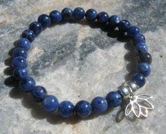 Sodalite Mala Bracelet prayer beads rosary with by LotusJewels, $17.99