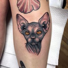 WEBSTA @ zanderxmasom - Quick one from yesterday, always have time for small animal tattoos! Love Tattoos, New Tattoos, I Tattoo, Small Animal Tattoos, Small Tattoos, Sphinx Tattoo, Sphynx Cat Tattoo, Tattoo Tradicional, Neo Trad Tattoo