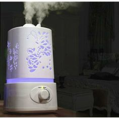 Lagute TT-08 Haze Series AT-26M Carving LED Aromatherapy Scented Oil Aroma Diffuser Humidifier Air Purifier, 1.5L by Lagute, http://www.amazon.ca/dp/B00G3YH1D6/ref=cm_sw_r_pi_dp_GbnSsb07KC2GQ