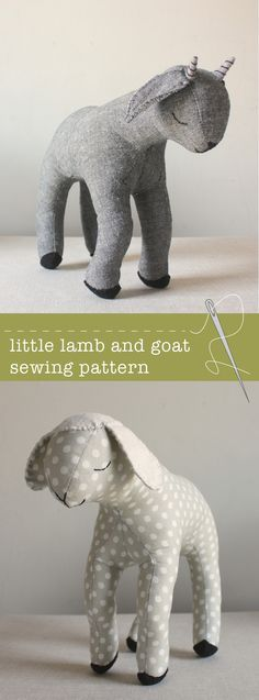 lamb and goat sewing pattern, wow, thanks so for share xox   ☆ ★   https://www.pinterest.com/peacefuldoves/