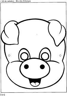 Máscara de porquinho e porquinha! - ESPAÇO EDUCAR