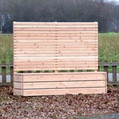 Pflanzkübel Holz mit Sichtschutz