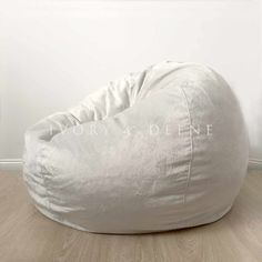 Large Soft Ivory luxury Fur Cloud Chair Bean Bag                         – Ivory & Deene Pty Ltd